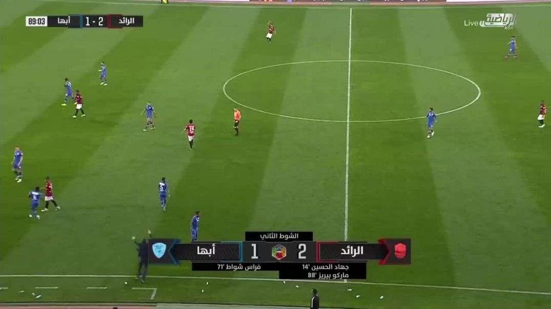 ملخص أهداف مباراة الرائد 2 - 1 أبها الجولة 18