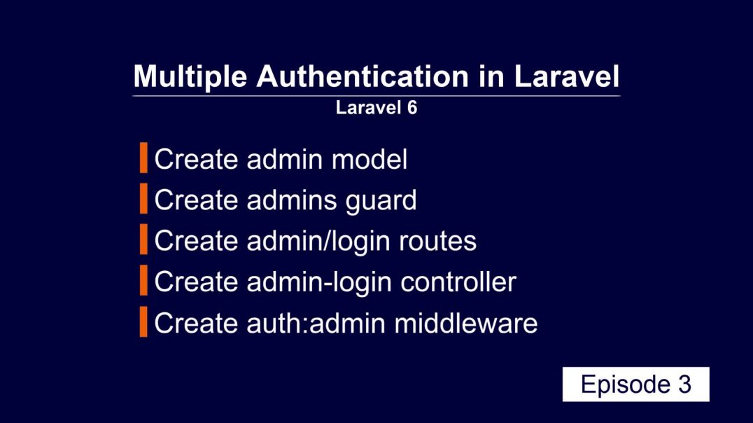 ⁣Multiple Authentication Laravel part 3