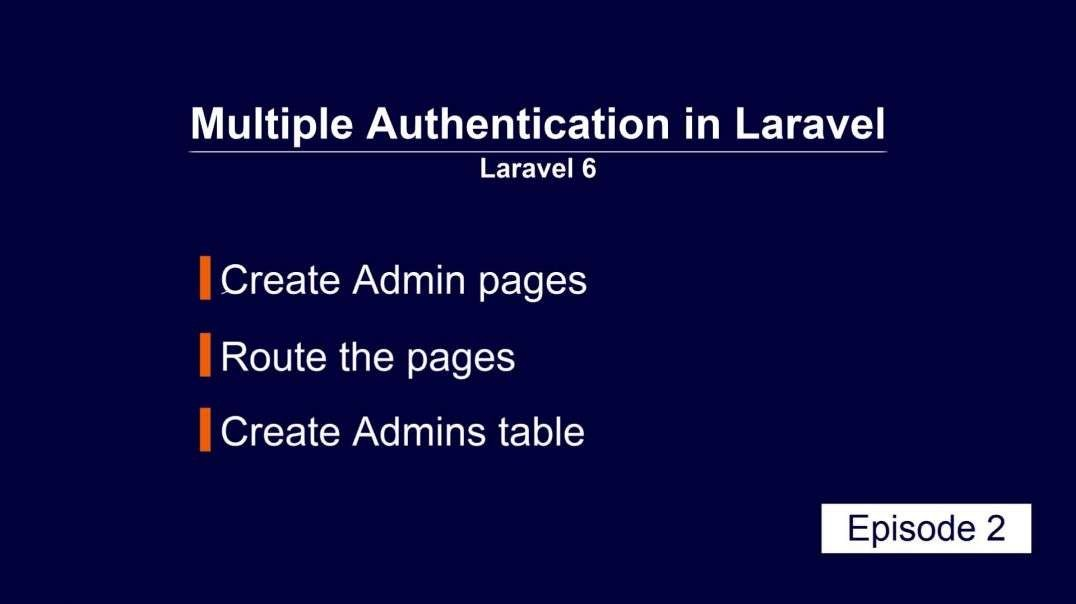 ⁣Multiple Authentication Laravel part 2